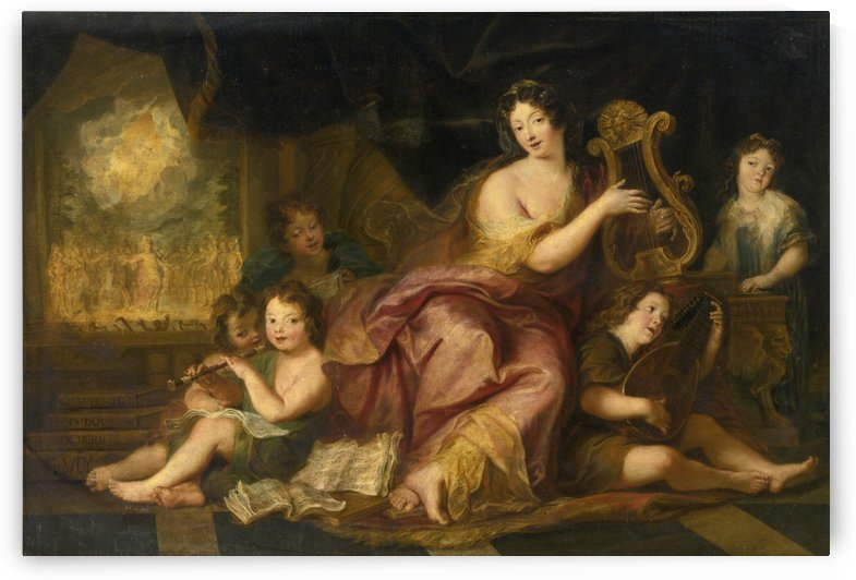 Allegory of music by Charles-Antoine Coypel