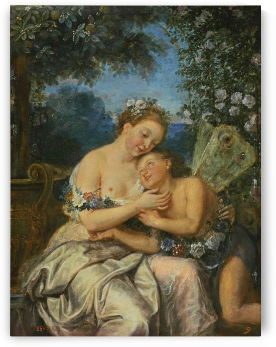 Flora and Zephyr by Charles-Antoine Coypel