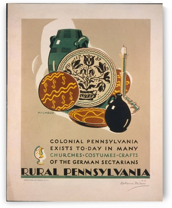 Visit Rural Pennsylvania by VINTAGE POSTER