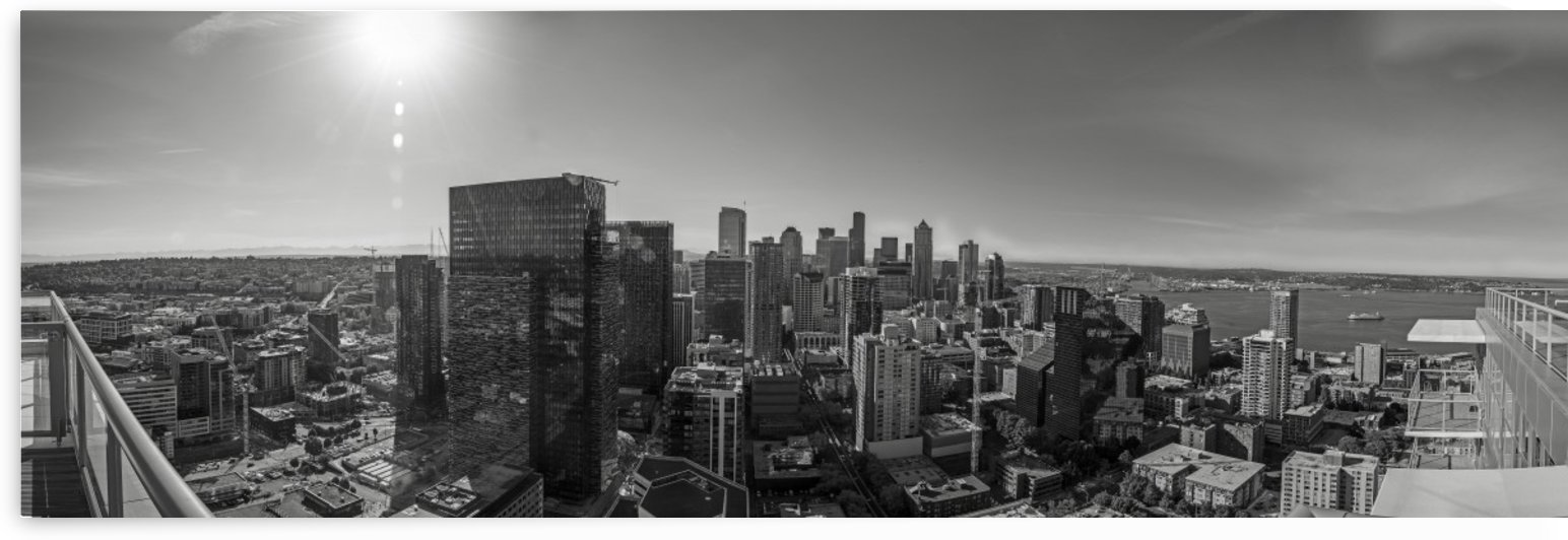 Panoramic Southern Seattle View by Steve
