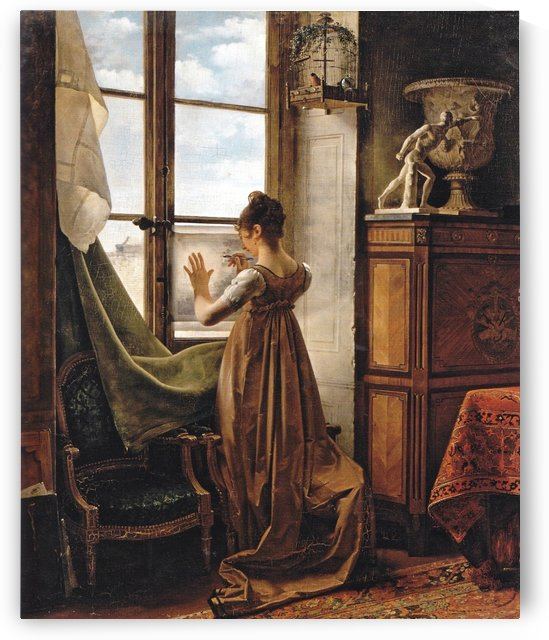 At the Window by Martin Drolling
