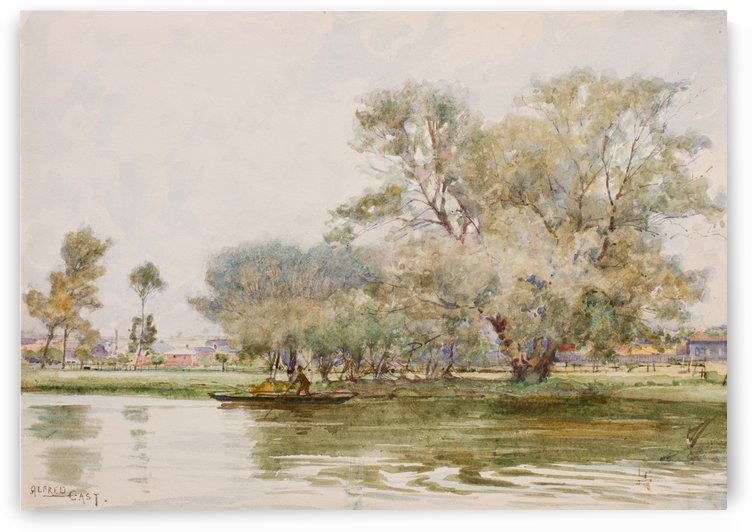The river at Kettering by Sir Alfred Edward East