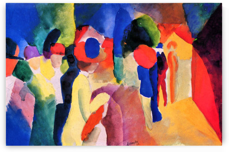 With yellow jacket by August Macke by August Macke