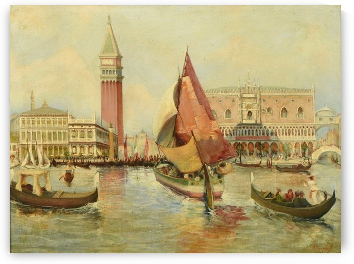 Venice city view by Antonio Maria Reyna Manescau