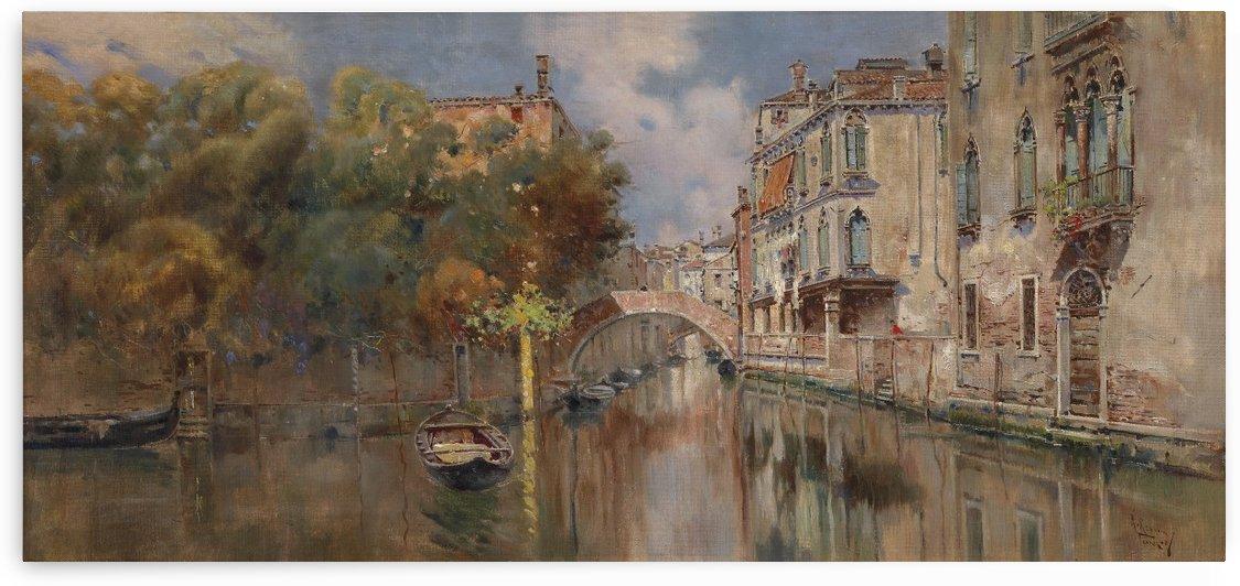 Blick auf einen Kanal in Venedig by Antonio Maria Reyna Manescau