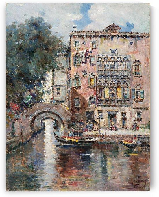 Gondeln in Venedig by Antonio Maria Reyna Manescau