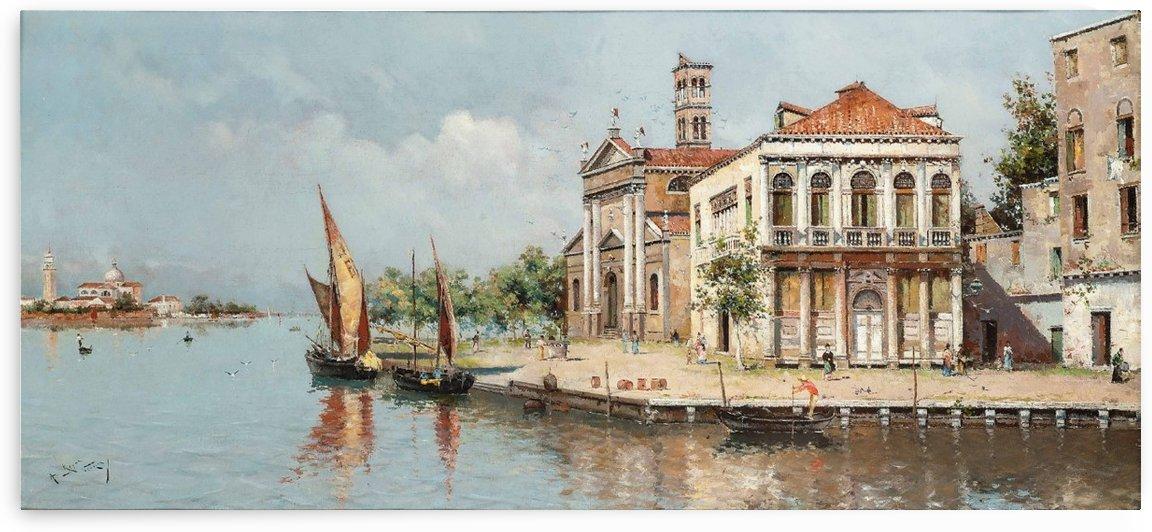 Settlements on the Venetian Lagoon by Antonio Maria Reyna Manescau