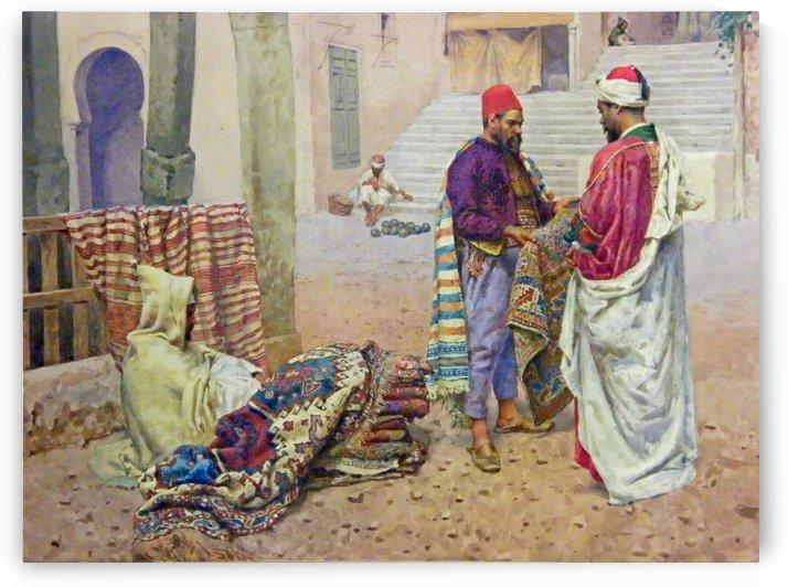The carpet seller by Antonio Maria Reyna Manescau
