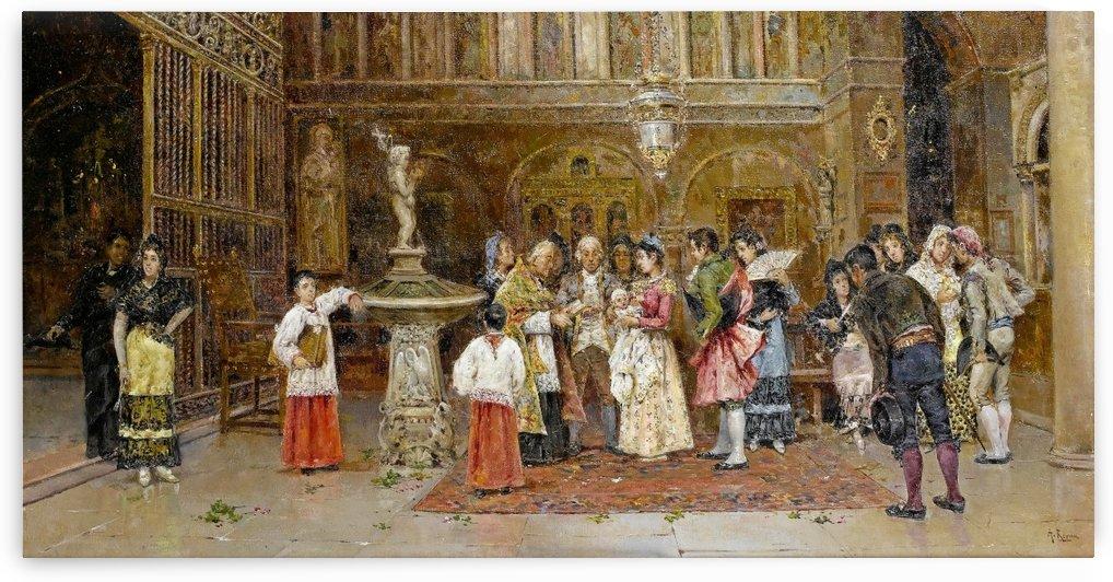 The Christening by Antonio Maria Reyna Manescau