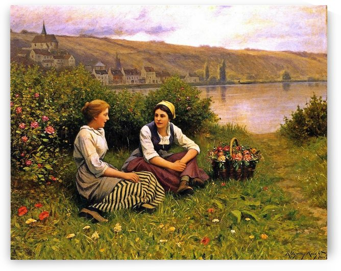 Waiting for the Ferryman by Daniel Ridgway Knight