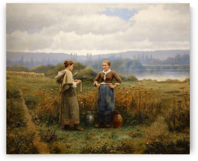 The Meeting by Daniel Ridgway Knight