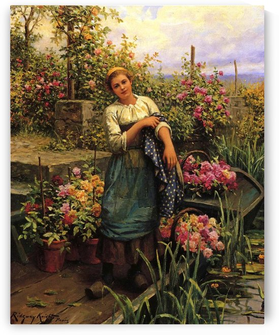 The flower boat by Daniel Ridgway Knight