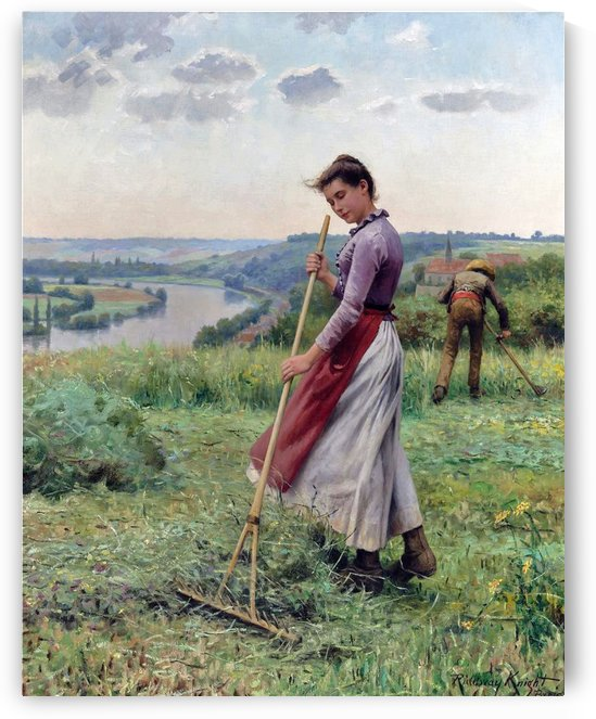 The Breezy Uplands by Daniel Ridgway Knight