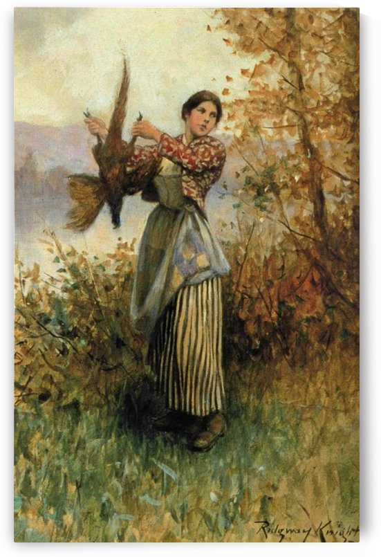 A pheasant in hand by Daniel Ridgway Knight