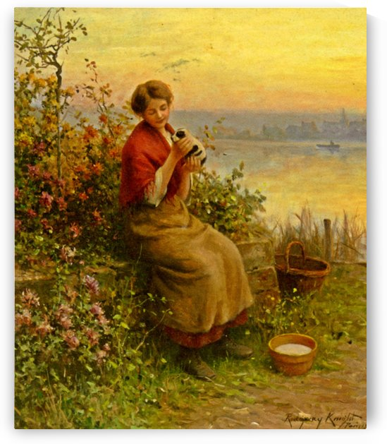A new puppy by Daniel Ridgway Knight