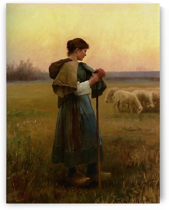 The young shepherdess by Daniel Ridgway Knight