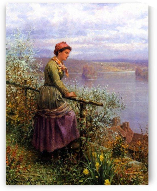 Contemplation by Daniel Ridgway Knight