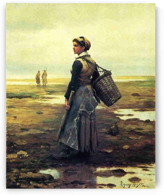 Clamming by Daniel Ridgway Knight