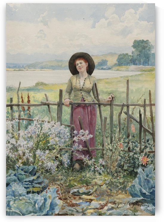 Day dreaming by Daniel Ridgway Knight