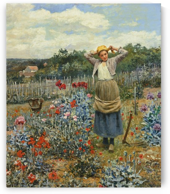 The garden by Daniel Ridgway Knight