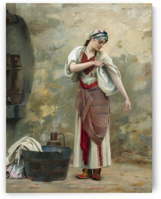 The Laundress by Daniel Ridgway Knight