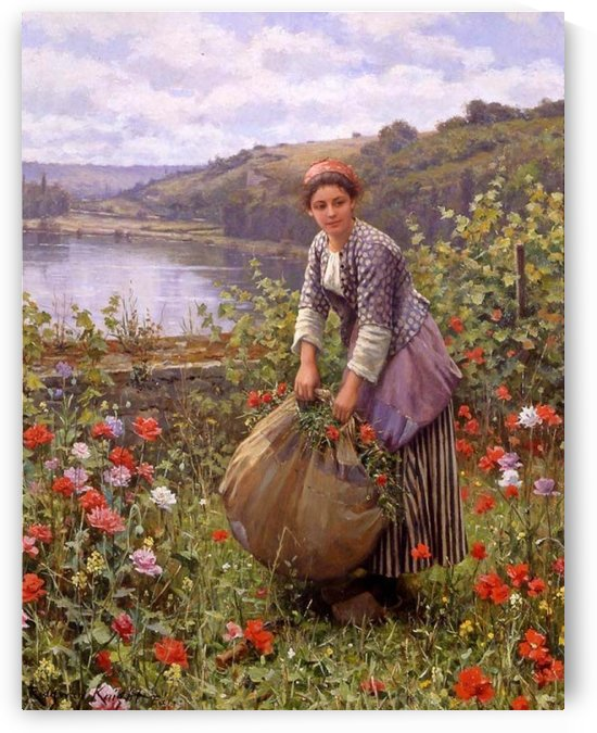 The grass cutter by Daniel Ridgway Knight
