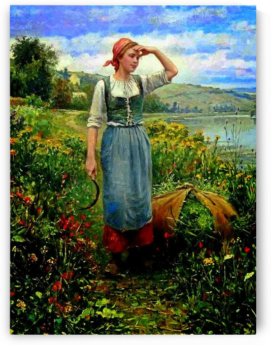 Harvest girl by Daniel Ridgway Knight