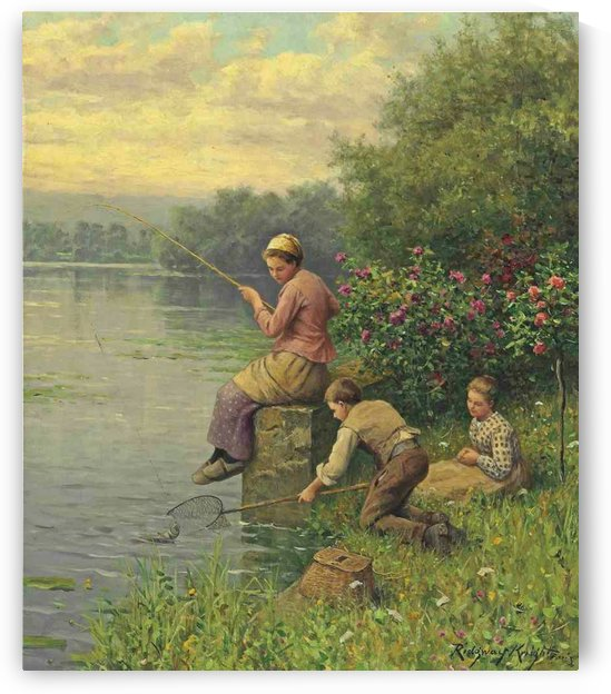 Golden days of fishing by Daniel Ridgway Knight