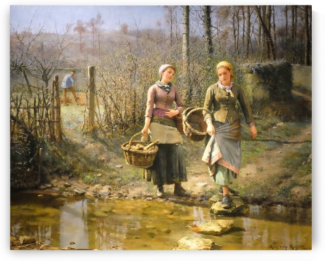 Over the river by Daniel Ridgway Knight