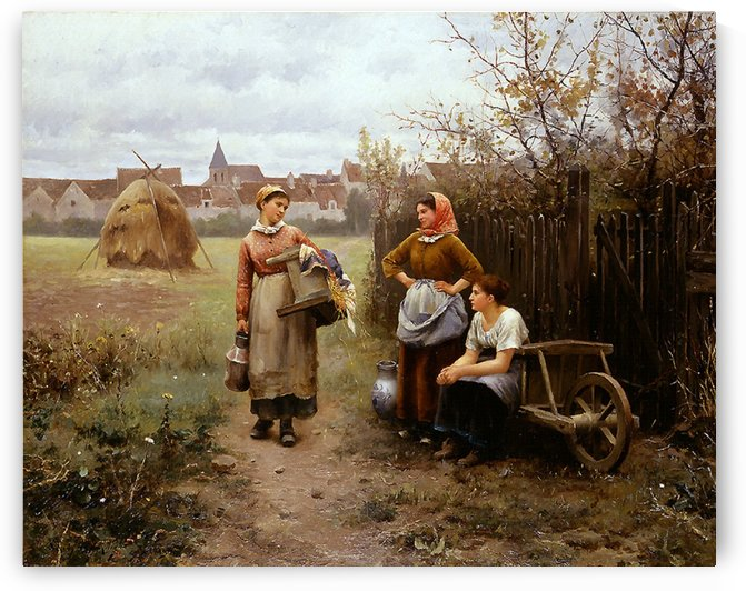Going to the wash house by Daniel Ridgway Knight