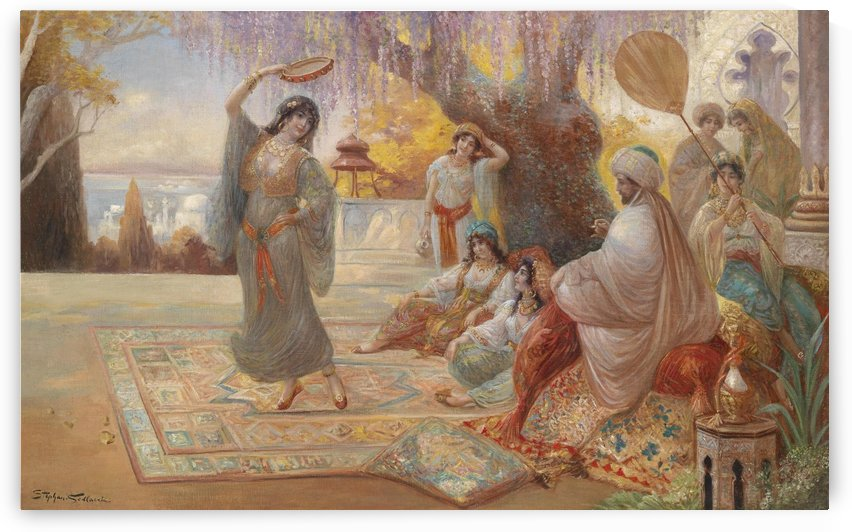 Orientalische Haremsszene by Stephan Sedlacek