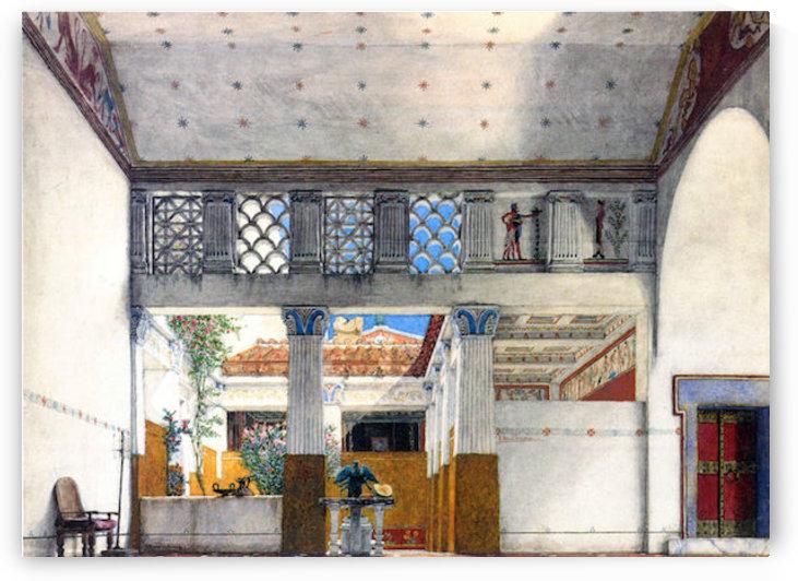 Establishment of Caius Martius house by Alma-Tadema by Alma-Tadema
