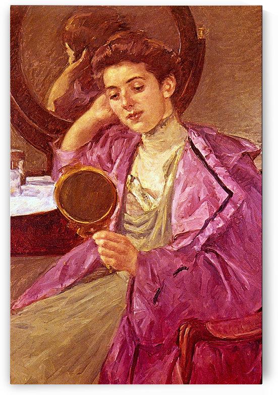 Antoinette at her Dresser by Cassatt by Cassatt