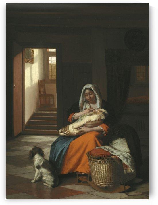 Mother nursing her child by Pieter de Hooch