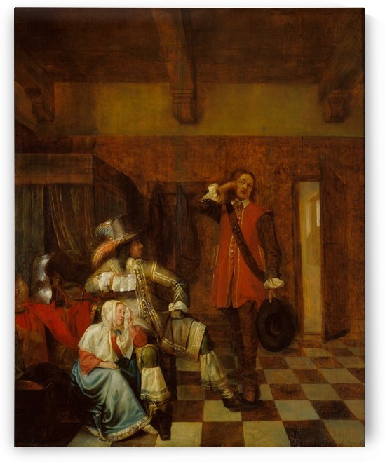 Bringer of bad news by Pieter de Hooch