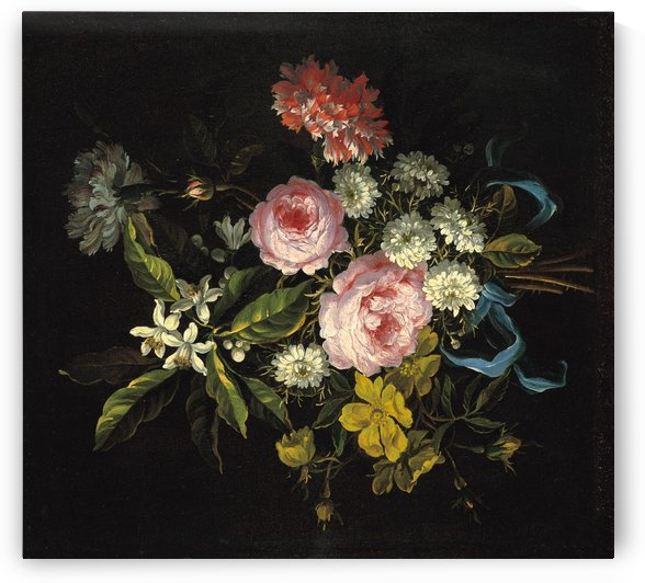 Bouquet of Chamomile, French roses and other flowers by Jean Baptiste Monnoyer