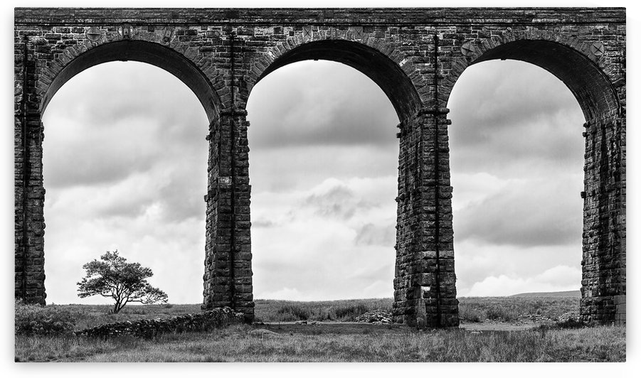 Settle Carlisle Viaduct Yorkshire England by Keith Truman