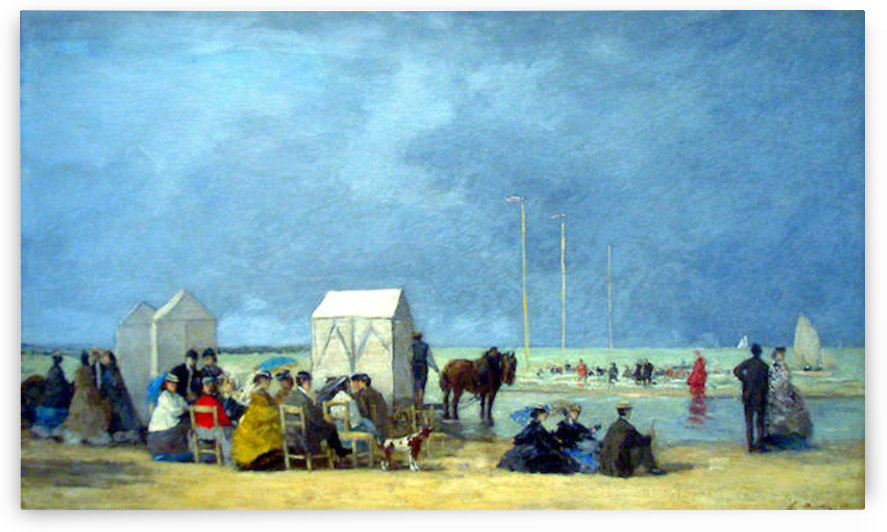 Bathing Time at Deauville by Boudin by Boudin