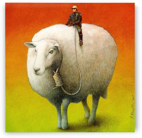 Sheep Control by Pawel Kuczynski