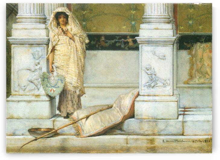 Fishing by Alma-Tadema by Alma-Tadema