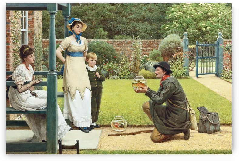The Goldfish Seller by George Dunlop Leslie