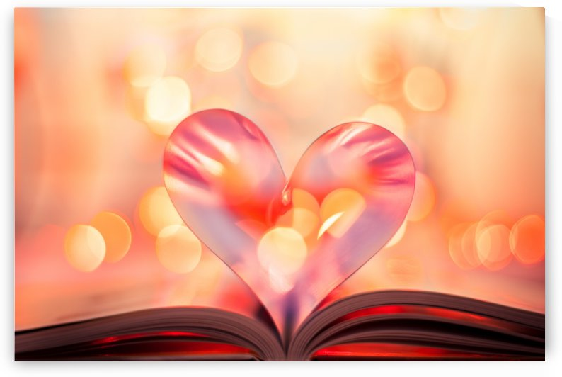 Heart book, vintage sepia process by Levente Bodo
