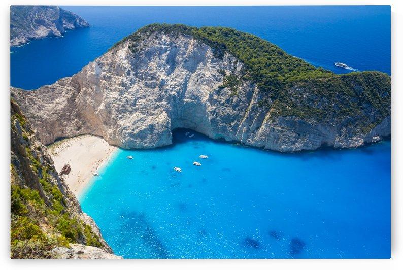 Amazing Navagio Beach in Zakynthos Island, Greece by Levente Bodo