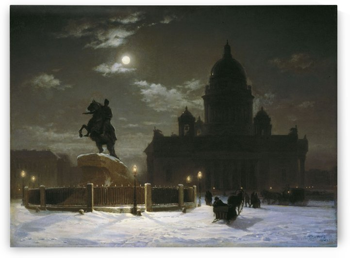Monument to Peter I on the Senate Square in Saint Petersburg by Vasily Surikov