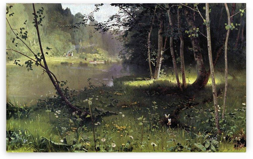 Forest river by Nikolay Dubovskoy