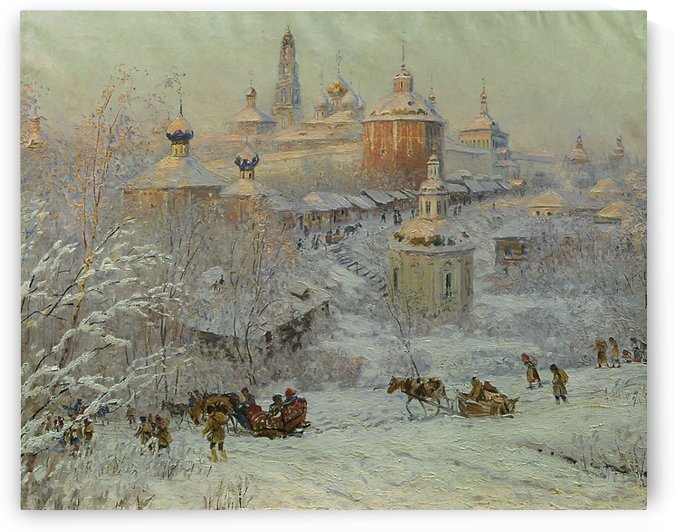 Winter in the Trinity - St Sergius Monastery by Nikolay Dubovskoy