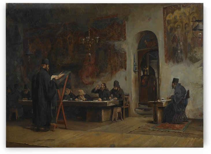 Refectory in a Greek Monastery from Mount Athos by Theodore Ralli