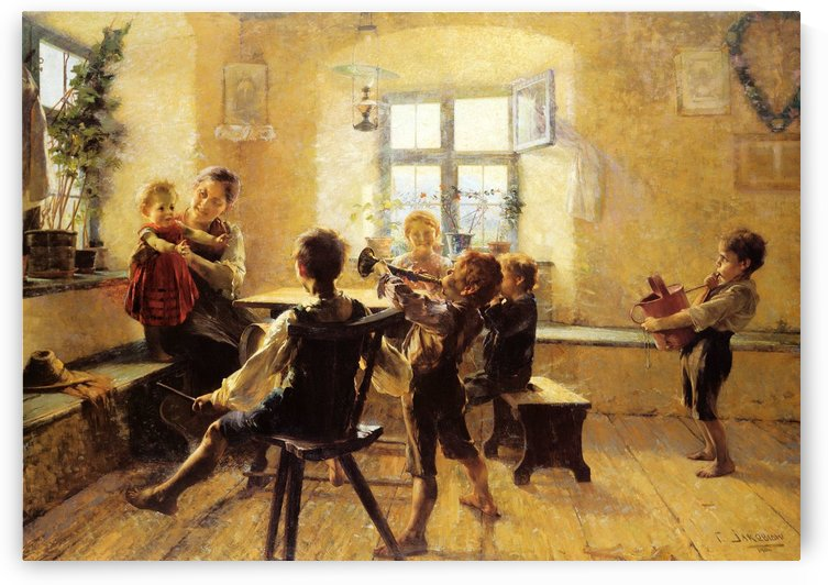 Children in concert by Georgios Jakobides