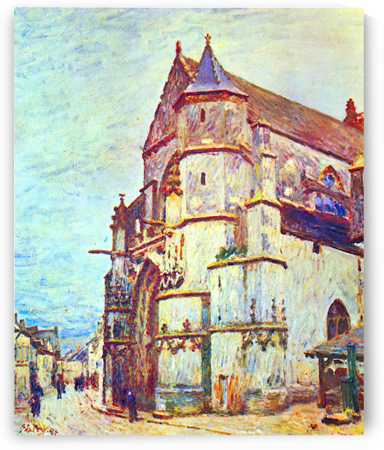Church of Moret, After the Rain by Sisley by Sisley