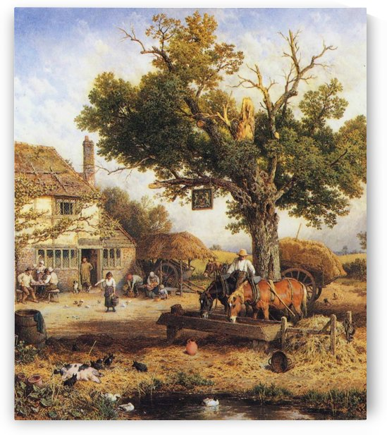 The country inn by Myles Birket Foster